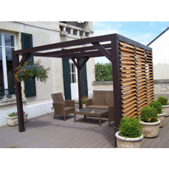 Pergola cubik hospice for Carrefour pergolas jardin